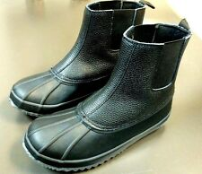 ~!Men's Leather LONDON FOG Waterproof THINSULATE Rain,Duck,Snow Boots.Size 11 ~