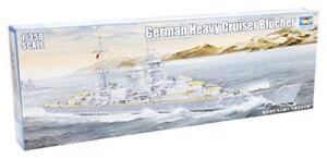 German Heavy Cruiser Blucher 1: 350, kit de modèles en plastique Trumpeter