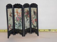 Dollhouse Miniatures Chinese Screen Panels Asian China Birds Frame Scenery Room
