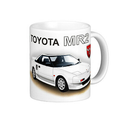 TOYOTA   MR2   AW11   W10   QUALITY  11oz . MUG  (7 DIFFERENT CAR COLOURS)