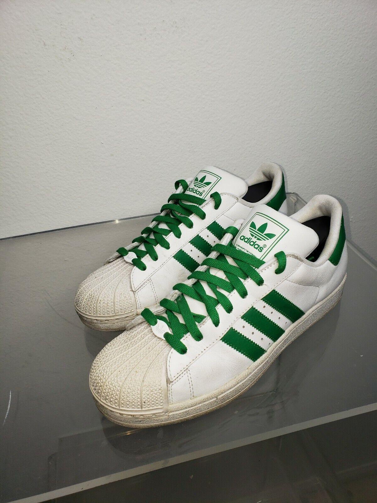on sale 37d5a b78b0 Adidas Mens Shell Shell Shell Toe White Green PWL681-001 ...
