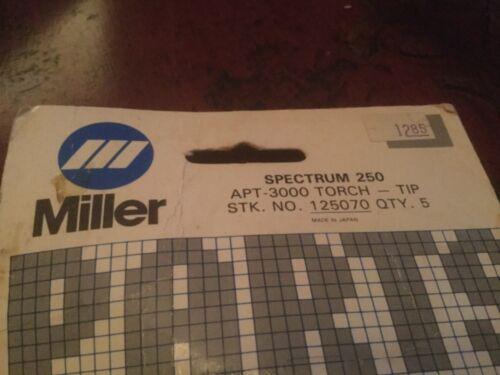 miller welding parts spectrum 250 plasma APT-3000 torch electrode 125070 5 pack