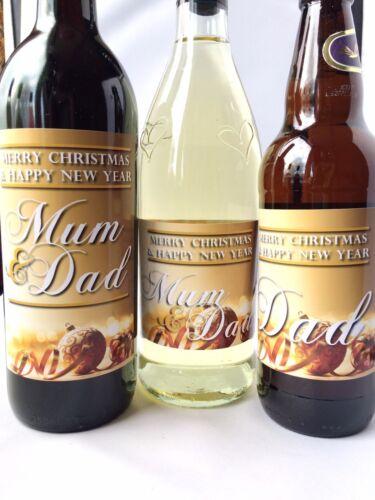 champagne étiquette bouteille bière Babioles de noël personnalisé gold vin