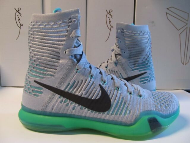 finest selection 017f1 cc5e8 DS New Kobe X Elite ELEVATE Wolf Grey Light Retro White 718763 041 Bryant  green