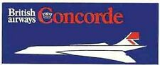 British Airways  (CONCORDE)   Vintage-Looking    Sticker/Decal/Luggage Label