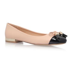 Flat Ballerina Shoes Kurt Geiger Size 7 Gold Pumps Ladies Miss KG BRAND NEW