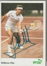 Tennis * GUILLERMO VILAS * Tennis * Argentinien * 4 x Grand Slam Sieger sign. AK