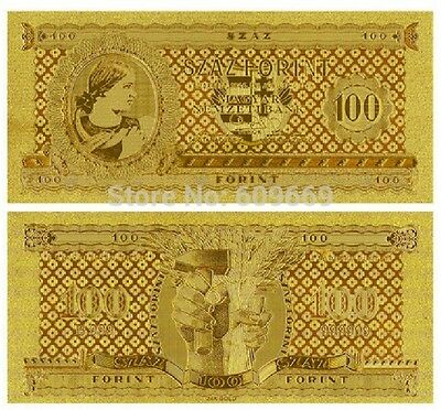 HUNGARY P-159 10 FORINT 1946  GOLD 24K
