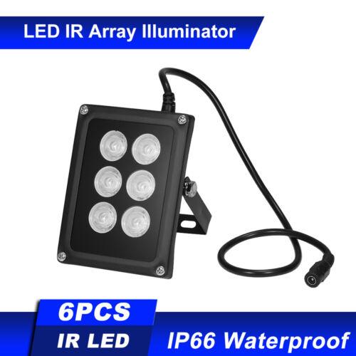 Infrared Illuminator 6pcs Array IR LEDS IR Illuminator Night Vision Wide T6Z6