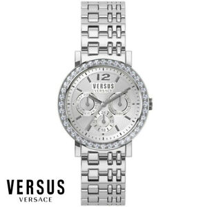 Versus-by-Versace-SOR110015-Manhasset-silber-Swarovski-Armband-Uhr-Damen-NEU