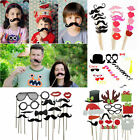 31 44 58X Party DIY Photo Booth Props Mask Glass On A Stick Wedding Decorations
