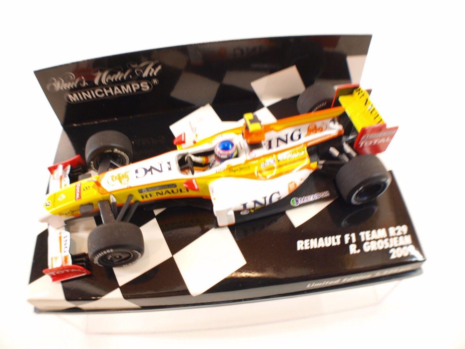 Minichamps F1 Renault Team R29  8 Grosjean 2009 1 43 Nuevo Caja   en Caja MIB