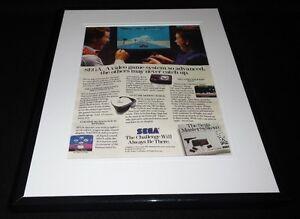 1987 Sega Master System 11x14 Framed ORIGINAL Advertisement Space Harrier