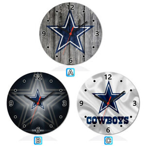 Details About Dallas Cowboys Sport Wooden Wall Clock Modern Home Room Decoration