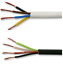 thumbnail 1 - 4 Core Black & White Electrical Flexible Mains Cable Wire 0.75, 1.0, 1.5, 2.5 mm
