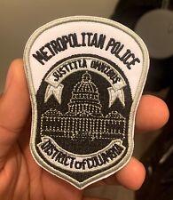 Metropolitan Police District of Columbia Police Patch Death City Washington DC
