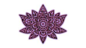 Purple Mandala Lotus Mindful Yoga Meditation Die Cut Vinyl
