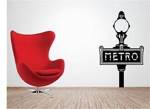 Paris-Metro-Pegatina-Adhesiva-Vinilica-Pared-Salon-Dormitorio