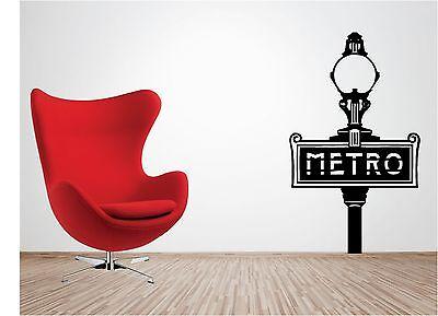 PARIS METRO wall art sticker vinyl LOUNGE BEDROOM