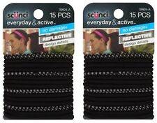 """Scunci Everyday & Active Hair Ties, Black, """"30 count"""""""