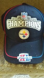 NFL-Pittsburgh-Steelers-2005-Conference-Champions-Super-Bowl-XL-Black-Hat-Cap