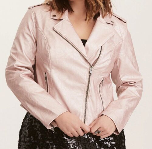 Jakke 1x 14 Moto Torrid Faux 16 Rose Metallic 11044 Leather Gold xO8PqxY0Bw