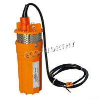 Orange Stainless Strainer Submersible 12v Dc Solar Well Pump Water Pump