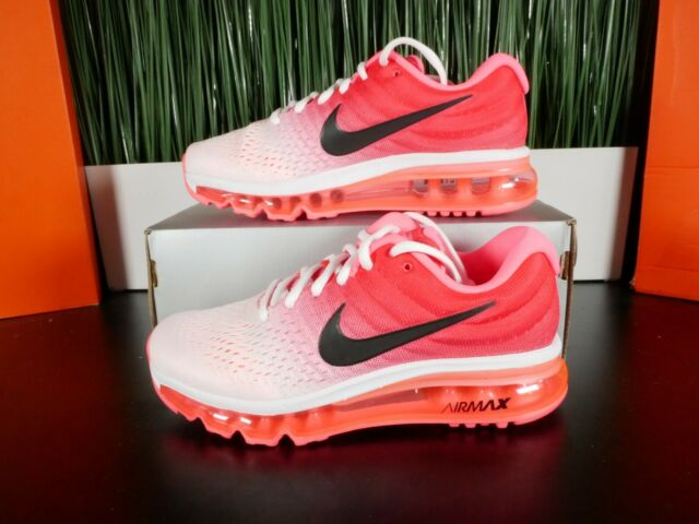 Nike Air Max 2017 Pink White Womens Running Shoes 849560 103 Multi Size