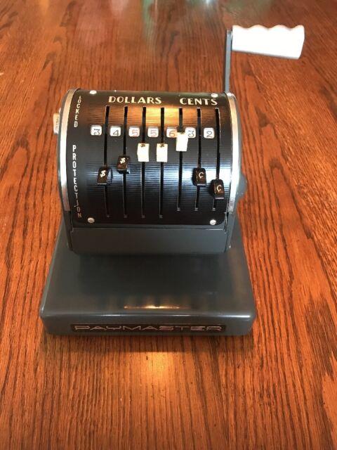 Vintage Paymaster X-900 Printing Check stamping machine