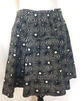 Free People Flared Skirt Blue Black White Sun Retail $88 Price $36