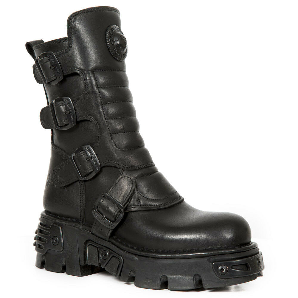 New Rock M.373X-S27 Hombre/ Negro Mujer Ankle botas ALL Negro Hombre/ 868a73