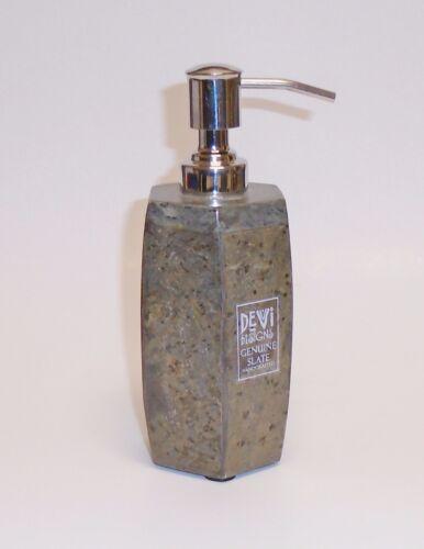 DEVI 5 PC SET SLATE GREEN MARBLE SOAP DISPENSER+DISH+TUMBLER+TOOTHBRUSH+TRASH