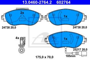Bremsbelagsatz Scheibenbremse für Bremsanlage Vorderachse ATE 13.0460-2764.2