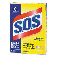 S.o.s. Steel Wool Soap Pad 15 Pads/box 12 Boxes/carton 88320ct on sale