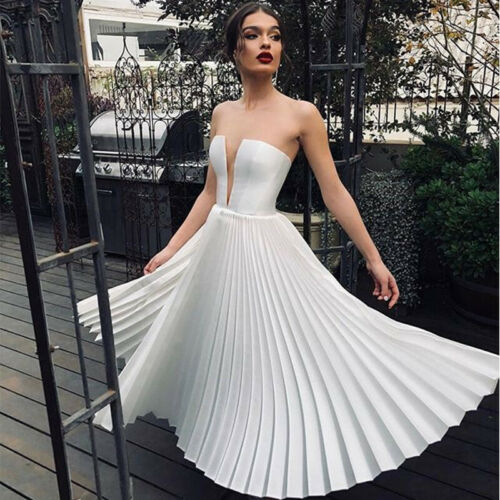 Ladies Evening Party Prom Dresses Wedding Formal Cocktail Bridesmaid Club Gown
