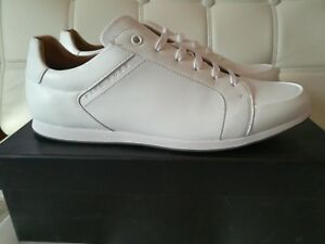 La foto se está cargando Nuevo-Hugo-Boss-Blanco-Cuero-Con-Cordones-Zapatos- b8875a3efd1