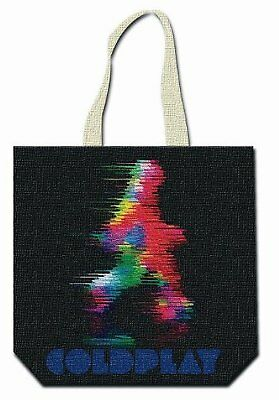 Coldplay Goccia Banda Logo Ufficiale Borsa Nera Riutilizzabile Di Acquisto Del T Colori Armoniosi
