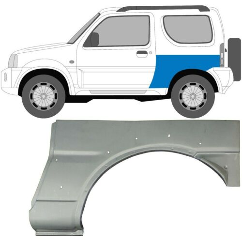 Links Suzuki Jimny 1998-2018 Hinten Kotflügel Radluaf Reparaturblech