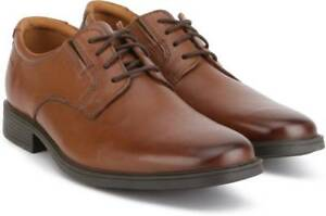 Dark Tan para Clarks 5 Derby Tilden hombre Leather Plain Shoes 44 10 Uk 4nYwUq