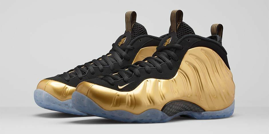 NIKE AIR FOAMPOSITE ONE METALLIC gold size 10. 314996-700 jordan penny