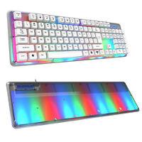 E-3lue K725 Backlit Professional Led Gaming Keyboard W/8-colors Illuminated