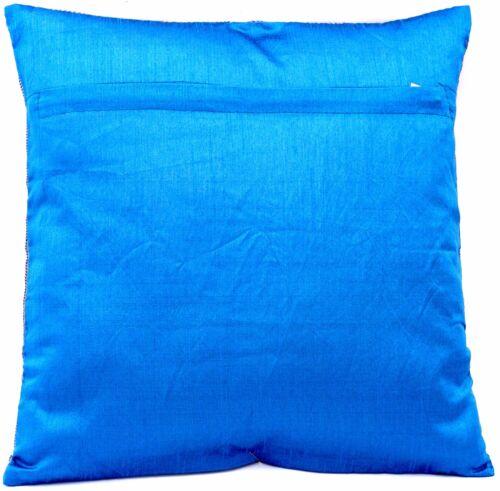 Blau Seide KisssenbezugZierkissenbezugSofakissenbezug aus Indien 40cmx40cm