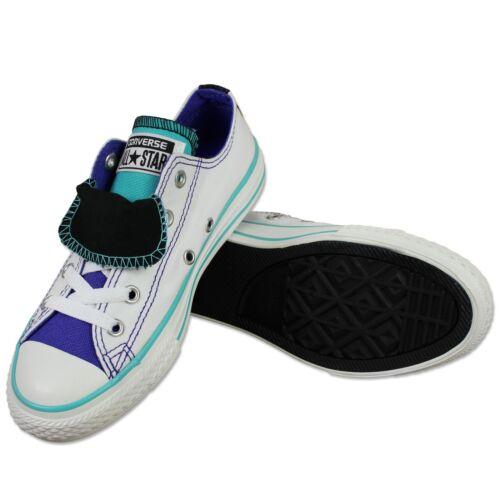 Bambino Star Sneaker Chuck All Taylor Bianco Scarpe Doppio Linguetta Converse UvR8qPP