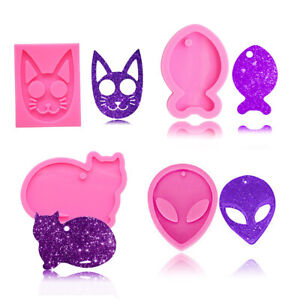 Alien Cat Fish Silicone Resin Epoxy Casting Mold Pendant Keychain Tag Mould DIY