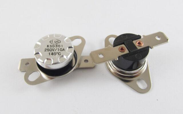 5 pcs Temperature Switch Control Sensor Thermal Thermostat 140°C N.C KSD301