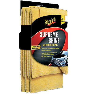 Meguiars Supreme Shine Microfiber Towel #X2020 -3Pack