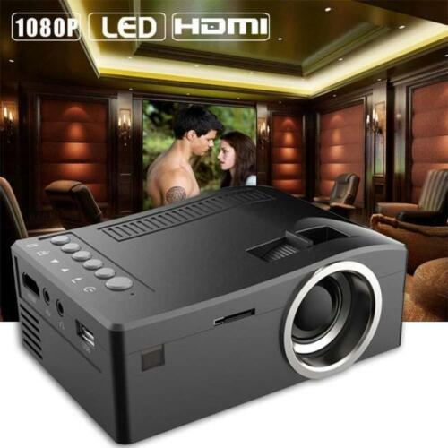 1080P HD LED Home MulitMedia Theater LED Cinema USB TV VGA SD HDMI Projector 12V