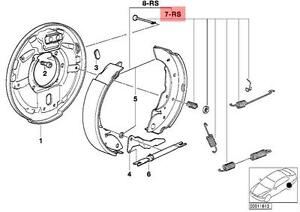 Genuine Bmw E36 Rear Drum Brake Shoes Springs Repair Kit Oem 34219067128 Ebay