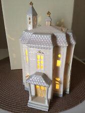 "Lenox  Halloween Lighted House 9.5"" #829508 NEW Fine china NEW IN BOX W COA"