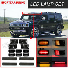 14x Smoked Led Roof Cab Running Lights Side Marker Lamps Set For 03 09 Hummer H2